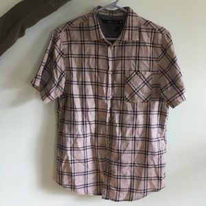 NWT Men's Short Sleeve Button Up - 100% Cotton